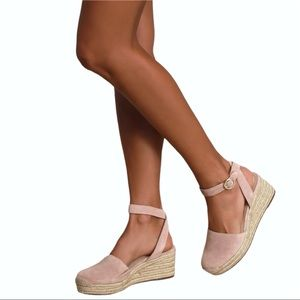 Sole Society Channing Suede Espadrille Sandals